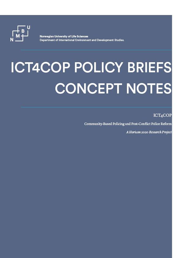 ICT4COP Policy Brief Concept Notes